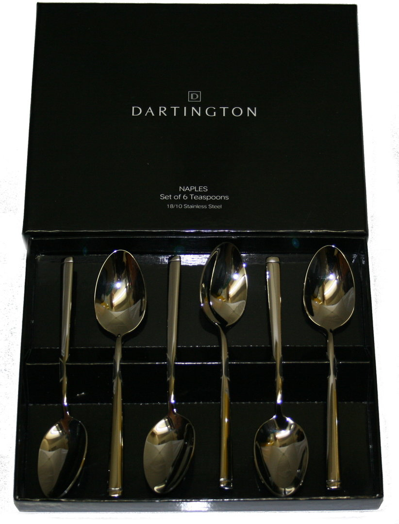 Dartington naples set of 6 teaspoons mrs huckles cutlery for 6 table spoons
