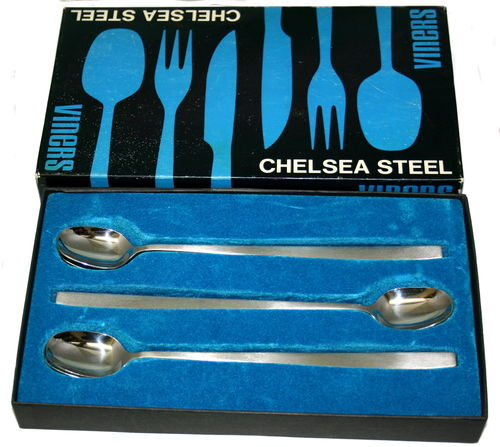 Viners Chelsea set of 6 tall drink spoons